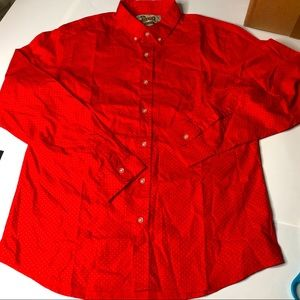 JNCO Jeans Mens Large Red Button Down Shirt